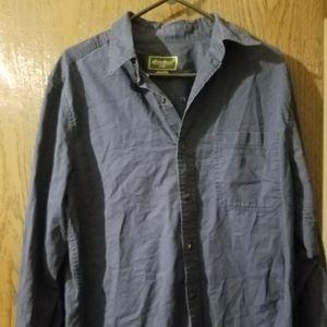 Eddie Bauer shirt men Medium Navy Blue Full Sleeve